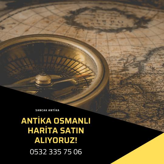 Antika Osmanlı Harita Alanlar Ve Alan Yerler